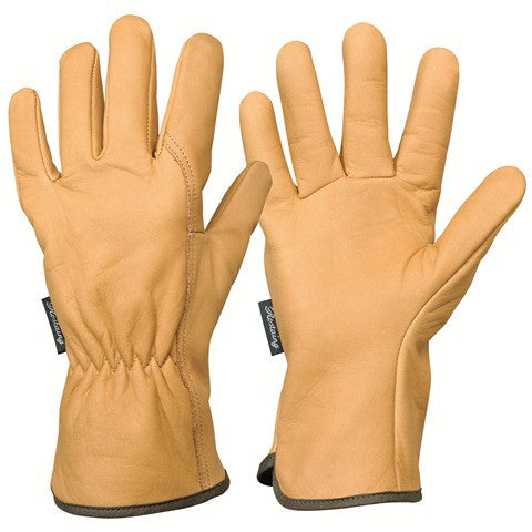 Long Wrist Calfskin Leather Work Gloves - Rostaing EPS28A - HearthWorld.com