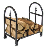 "24"" Decorative Firewood Log Rack with Cover - HearthWorld.com"