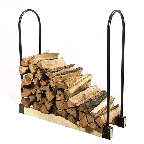 Adjustable Length Firewood Rack - Adjusts Up to 16 Feet Wide - Brackets Only - HearthWorld.com