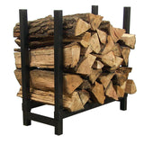 "24"" Black Steel Firewood Log Rack Cover"