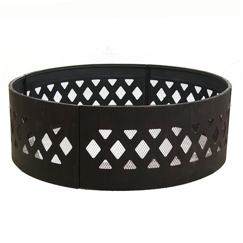 "36"" Heavy Duty Crossweave Campfire Ring - HearthWorld.com"
