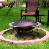 Cast Iron Bowl Fire Pit with Copper Finish - HearthWorld.com