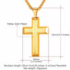 Lord's Prayer Cross Necklace: 18K Gold Plated or Black Stainless Steel