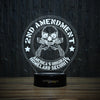 2nd Amendment Skull & Guns-3D Lamp-Lamplanet