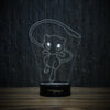 3D-195 3D LED Illusion Lamp-3D Lamp-Lamplanet
