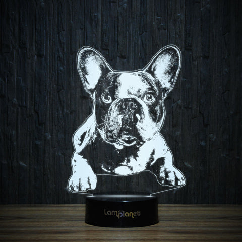 Alert Frenchie-3D Lamp-Lamplanet
