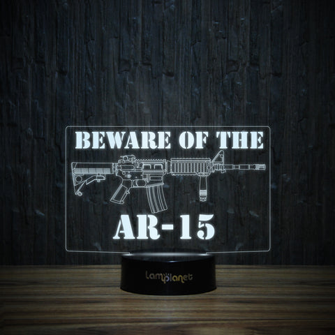 Beware Of The AR-15-3D Lamp-Lamplanet