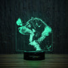Border Collie and Butterfly-3D Lamp-Lamplanet