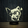 Chihuahua With Butterfly-3D Lamp-Lamplanet