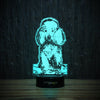 Cute Sitting Poodle-3D Lamp-Lamplanet