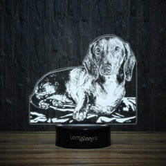 Dachshund Resting-3D Lamp-Lamplanet