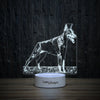 Doberman on Grass-3D Lamp-Lamplanet