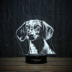 Dreaming Dachshund-3D Lamp-Lamplanet