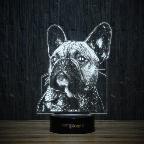 Dreaming Frenchie-3D Lamp-Lamplanet