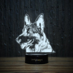Dreaming German Shepherd-3D Lamp-Lamplanet