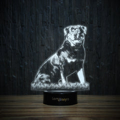 Dreaming Rottweiler-3D Lamp-Lamplanet
