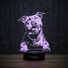 Enthusiastic Pit Bull-3D Lamp-Lamplanet