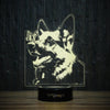 German Shepherd And Butterfly-3D Lamp-Lamplanet
