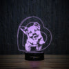 German Shepherd Heart-3D Lamp-Lamplanet
