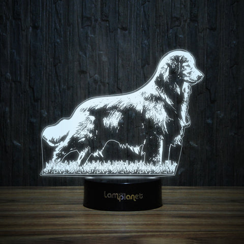 Golden On Grass-3D Lamp-Lamplanet