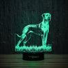 Great Dane On Grass-3D Lamp-Lamplanet