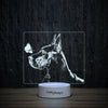 Great Dane With Butterfly-3D Lamp-Lamplanet