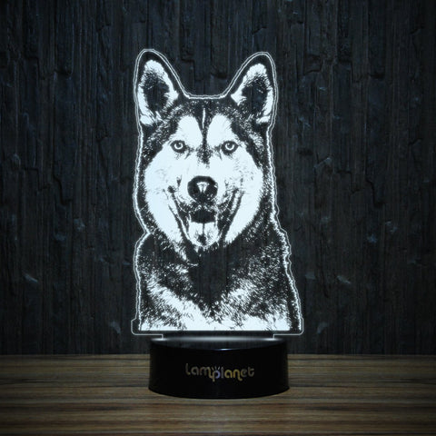 Happy Husky-3D Lamp-Lamplanet
