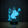 Husky And Butterfly-3D Lamp-Lamplanet