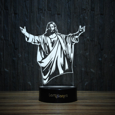 Jesus Christ The Redeemer-3D Lamp-Lamplanet