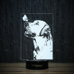 Labrador And Butterfly-3D Lamp-Lamplanet