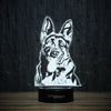 Laughing German Shepherd-3D Lamp-Lamplanet