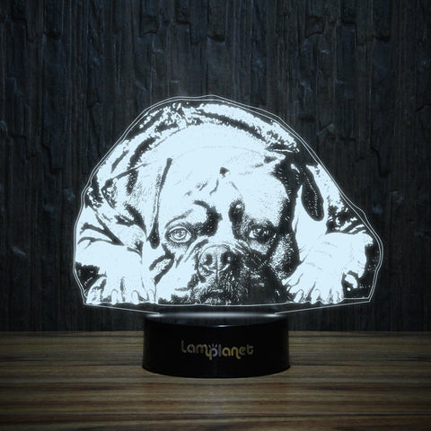 Lazy Bulldog-3D Lamp-Lamplanet