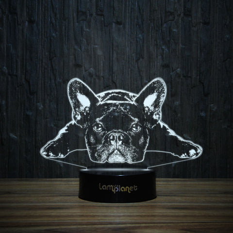 Lazy Frenchie-3D Lamp-Lamplanet