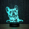 Peeking Frenchie-3D Lamp-Lamplanet