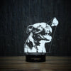 Pit Bull And Butterfly-3D Lamp-Lamplanet