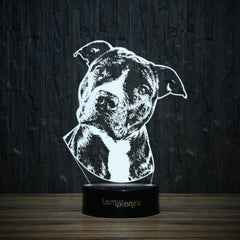 Pit Bull Puppy-3D Lamp-Lamplanet