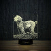 Poodle On Grass-3D Lamp-Lamplanet