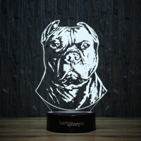 Powerful Pit Bull-3D Lamp-Lamplanet