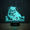 Pug And Ball-3D Lamp-Lamplanet
