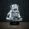 Pug With Bow Tie-3D Lamp-Lamplanet