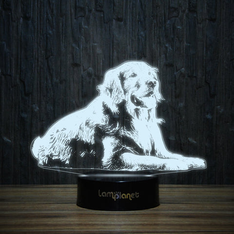 Relaxed Golden-3D Lamp-Lamplanet