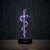 Rod of Asclepius 2-3D Lamp-Lamplanet