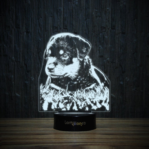Rottie Puppy-3D Lamp-Lamplanet