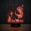 Shih Tzu And Butterfly-3D Lamp-Lamplanet