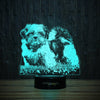 Shih Tzu On Grass-3D Lamp-Lamplanet
