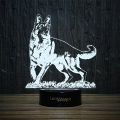 Stylish German Shepherd-3D Lamp-Lamplanet
