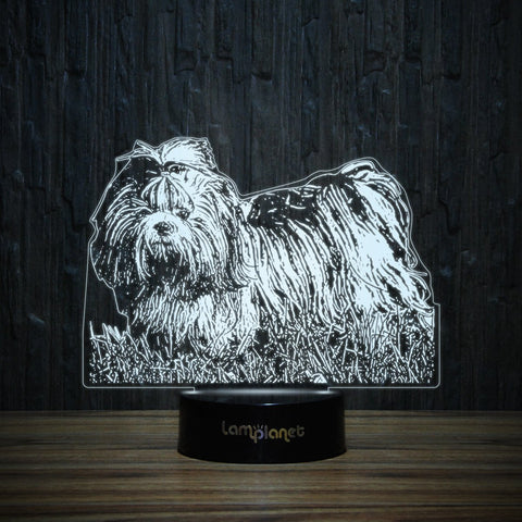 Stylish Shih Tzu-3D Lamp-Lamplanet