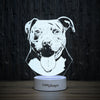 Surprised Pit Bull-3D Lamp-Lamplanet