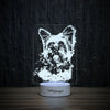 Yorkie Playful Tongue-3D Lamp-Lamplanet