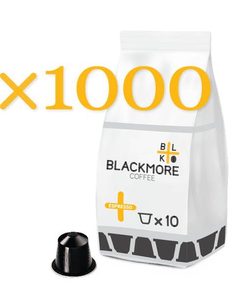 Espresso Blackmore Coffee™ — 1000 Capsules [Regular or Decaffeinated]